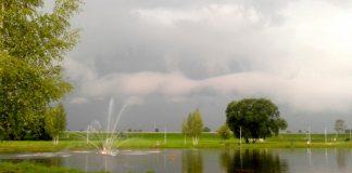Фонтан на Эспланаде в Даугавпилсе. Июль 2019 года. Фото: Елена Иванцова