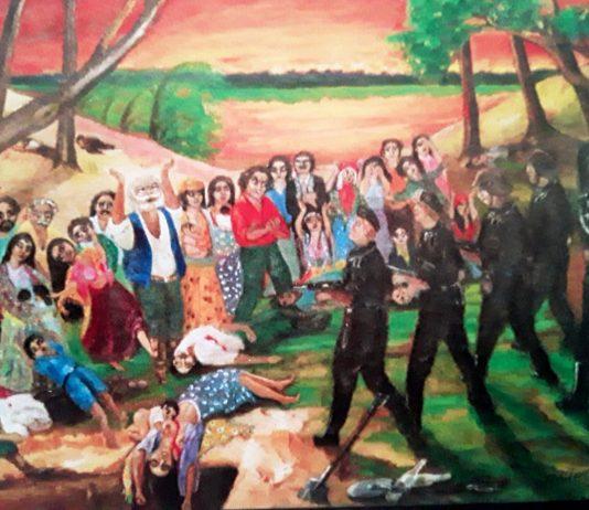 """""""Последний закат"""". Картина Карлиса Рудевича, посвященная самударипен. 2006 год"""