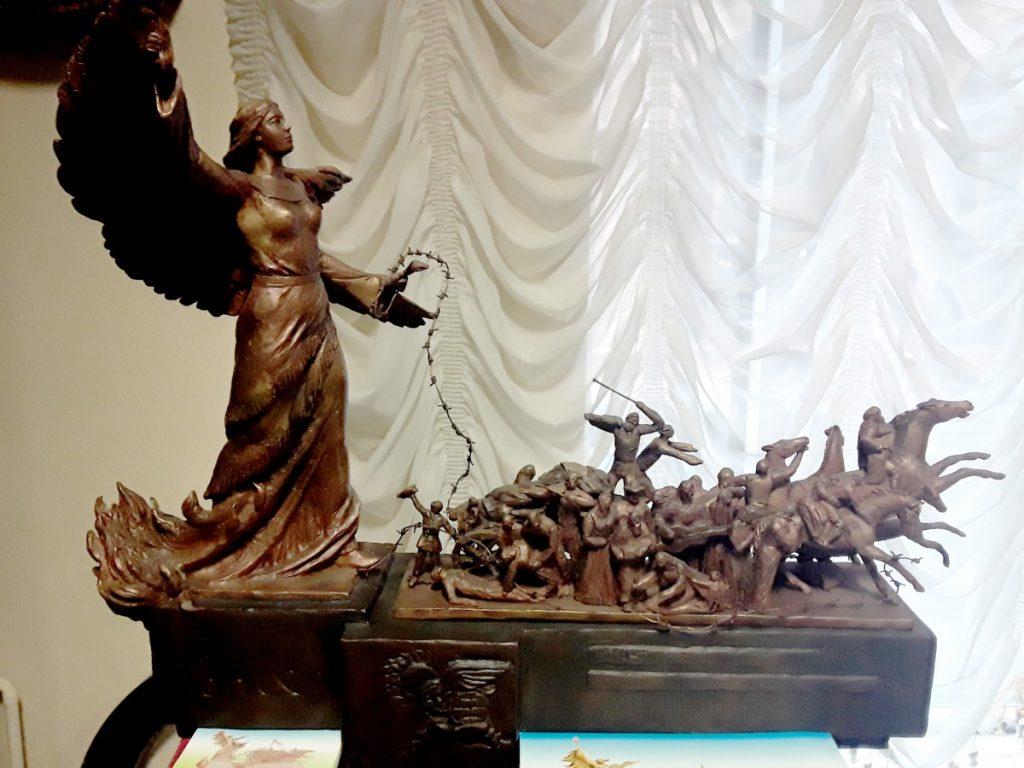Модель памятника, посвящённого геноциду цыган