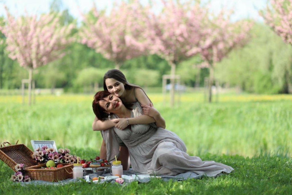 Татьяна Фогельман с дочкой. Фото: Ольга Лебедева