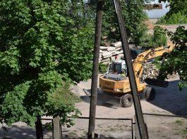 """Строительные работы по улице Грауду, 2 в Даугавпилсе. Фото читательницы """"Чайки"""""""