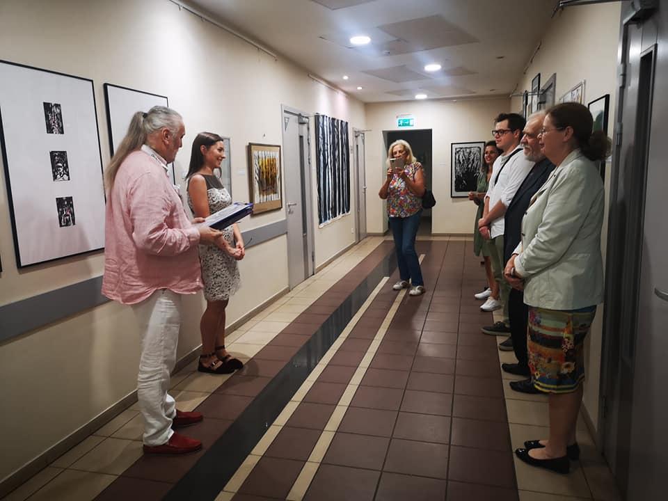 Открытие выставки Елены Кожевниковой в БМА. 15 июля 2020 года. Фото: Марина Гунаре