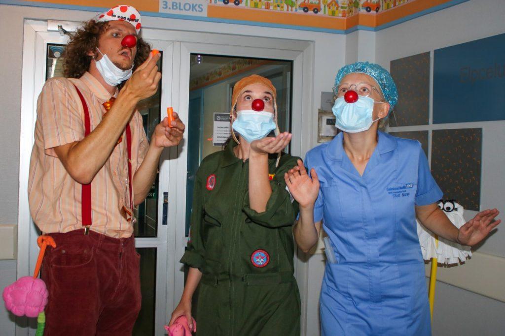 Доктора-клоуны в ДРБ. 29 июля 2020 года. Фото: Настя Гавриленко