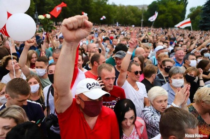 Акции протеста в Беларуси. Фото со страницы Наты Радиной на фейсбуке