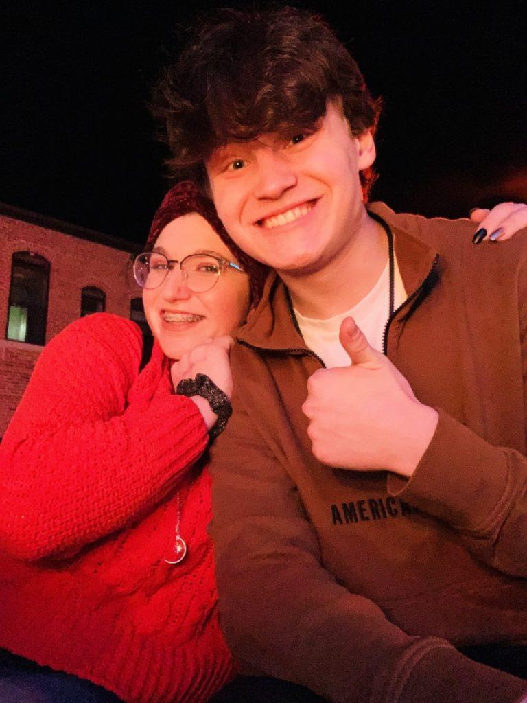 Егор со школьной подругой Эби