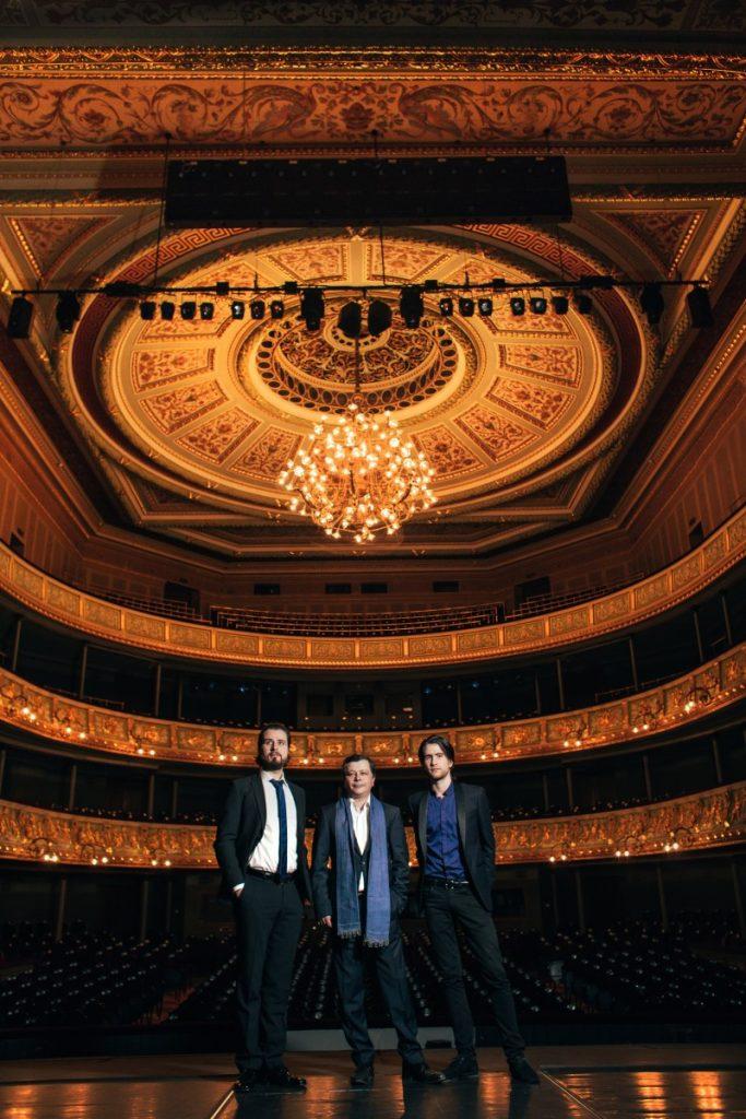 Три Осокина: Сергей и сыновья Георгий и Андрей. Фото: Янис Романовскис