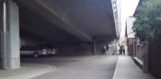Путепровод на улице Смилшу в Даугавпилсе. 13 августа 2020 года. Фото: Елена Иванцова