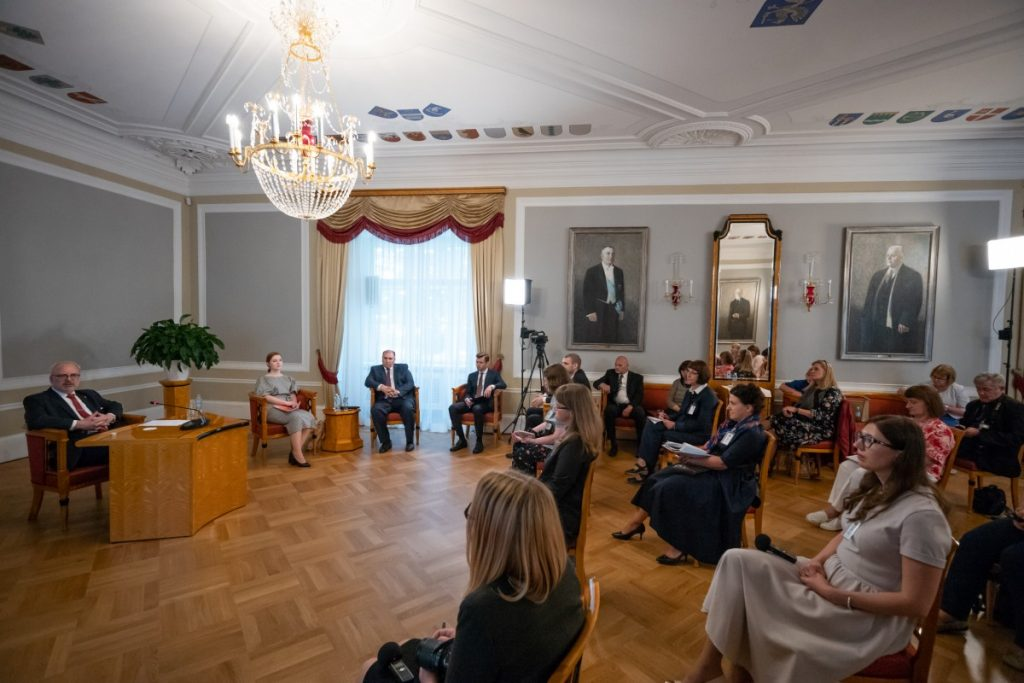 Встреча президента Латвии Эгилса Левитса с региональными журналистами. Рига, 24 июля 2020 года. Фото предоставлено канцелярией президента