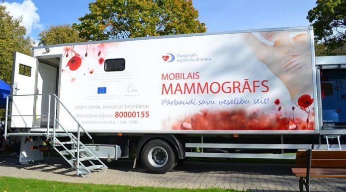 Мобильный маммограф. Фото: slimnica.daugavpils.lv