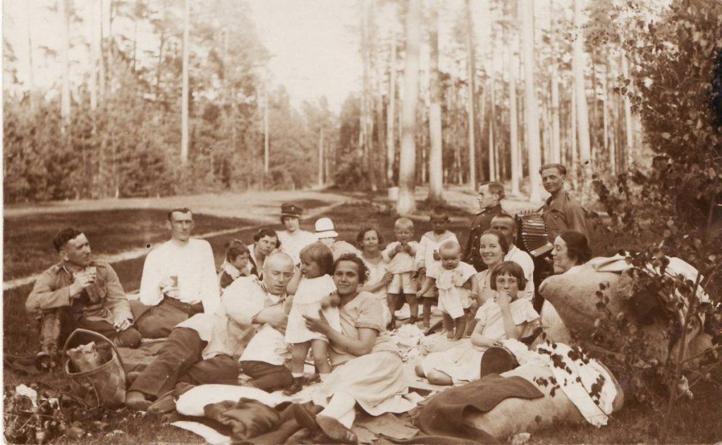 Погулянка. Межциемс. 1924 год. Фото Ретро Даугавпилс - Латвия