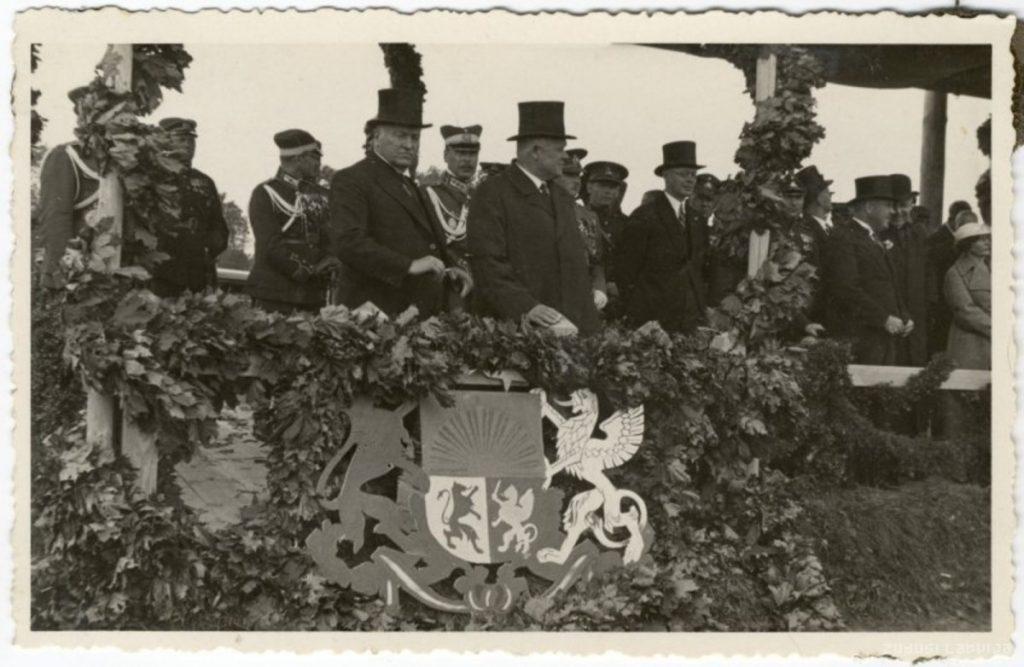 Добельский пехотный полк на празднике в Даугавпилсе (1934 год). Фото: zudusilatvija.lv