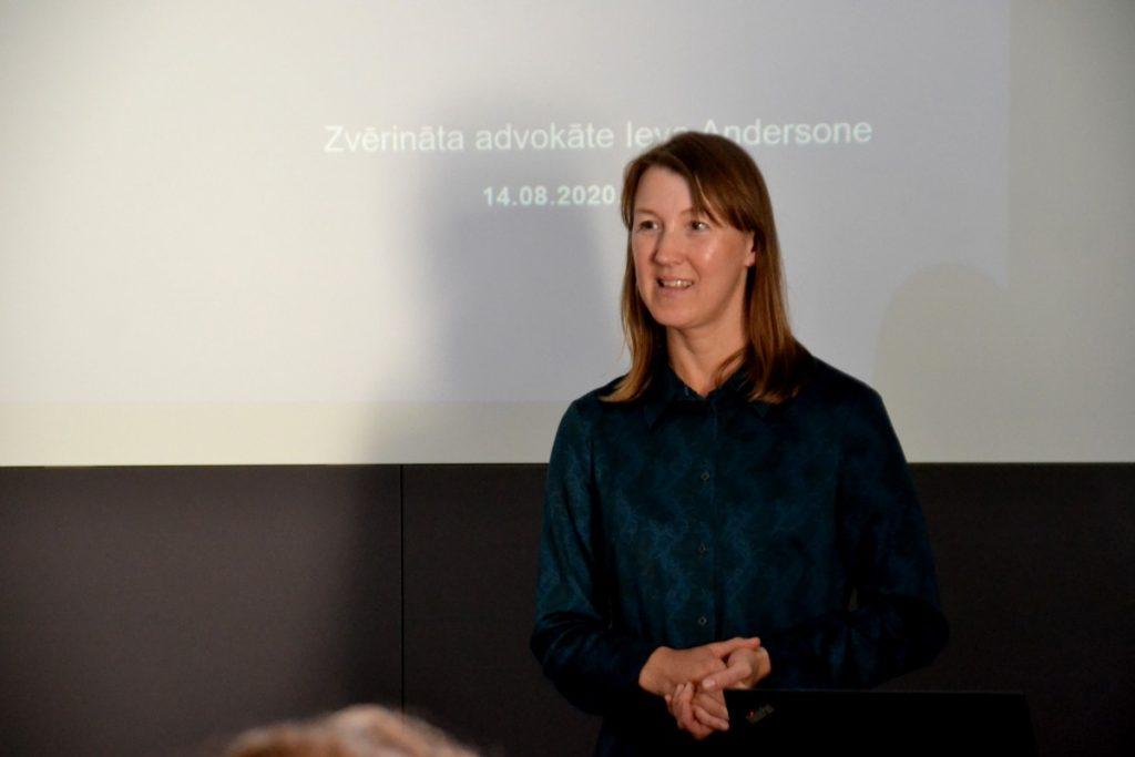 Присяжный адвокат юридического бюро Sorainen Иева Андерсоне. Фото: Елена Иванцова