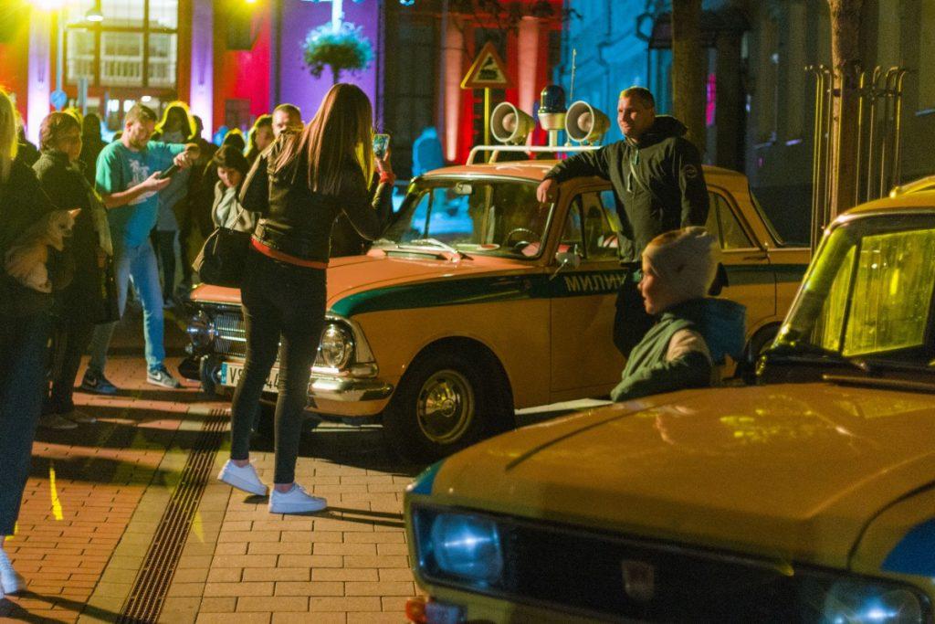Автомобили из коллекции Александра Кашерина на празднике улицы Ригас. Даугавпилс, 12 сентября 2020 года. Фото: Евгений Ратков