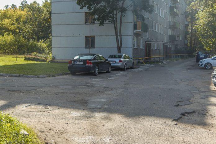 Улица Чиекуру в Даугавпилсе. 19 сентября 2020 года. Фото: Евгений Ратков