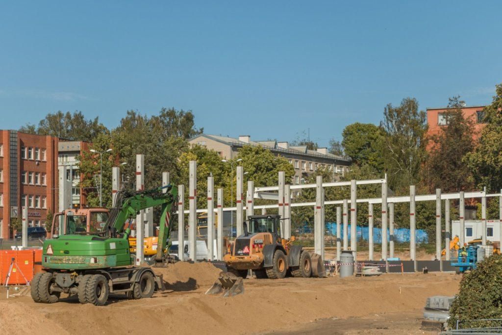 Строительство магазина Lidl в Даугавпилсе. 22 сентября 2020 года. Фото: Евгений Ратков