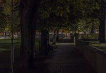 Фонари в парках Даугавпилса. 24 сентября 2020 года. Фото: Евгений Ратков