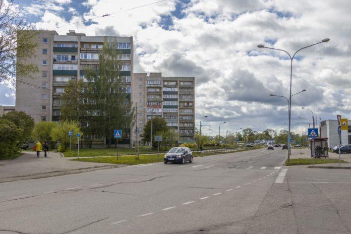 Улица Циетокшня в Даугавпилсе. 20 мая 2020 года. Фото: Евгений Ратков