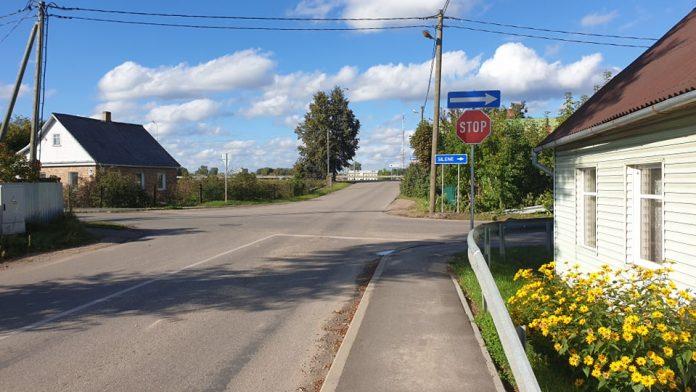 Опасный перекресток улиц Селияс и Лигинишку в Даугавпилсе. Фото читательницы