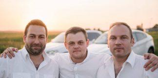 Сандис Улпе, Алексей Фёдоров и Александр Величко. Фото из личного архива