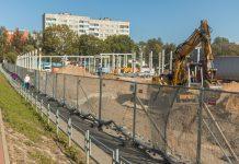 Строительство Lidl в Даугавпилсе. 22 сентября 2020 года. Фото: Евгений Ратков