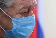 Михаил Ефремов на оглашении приговора. Фото Anton Novoderezhkin/TASS/Scanpix/Leta с сайта spektr.press
