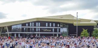 Erusalema Dance Challenge в Вентспилсе. Фото: ventspils.lv