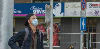 Люди в масках. Даугавпилс, 5 октября 2020 года. Фото: Евгений Ратков