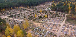 Кладбище в Даугавпилсе. 15 октября 2019 года. Фото: Евгений Ратков