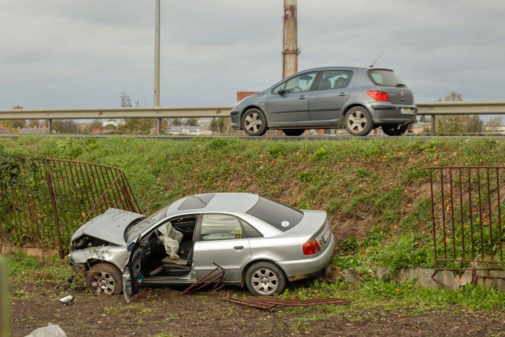 Авария в Даугавпилсе 18 октября 2020 года. Фото: Евгений Ратков