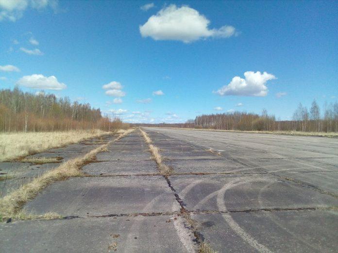 Территория Даугавпилсского аэропорта. Фото: Сергей Кузнецов