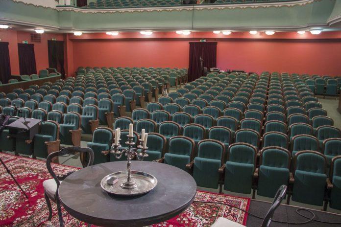 Большой зал Даугавпилсского театра. 13 ноября 2020 года. Фото: Евгений Ратков