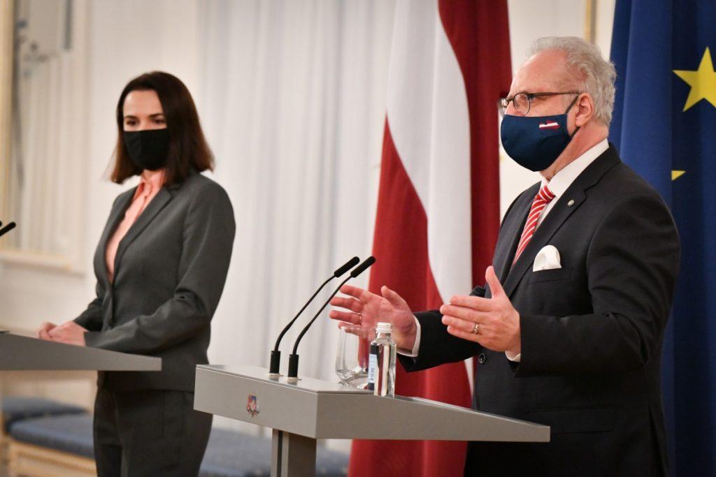 Встреча президента Латвии со Светланой Тихановской. Фото: канцелярия президента Латвии