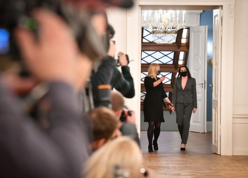 Светлана Тихановская во время встречи с президентом Латвии. Фото: канцелярия президента Латвии