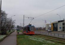 Трамвай №3 в Даугавпилсе. 1 декабря 2020 года. Фото: Елена Иванцова