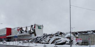 Сгоревший магазин DEPO в Резекне. 25 декабря 2020 года. Фото: Елена Иванцова