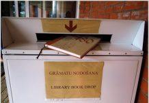 Book drop возле Даугавпилсского университета. Фото: du.lv