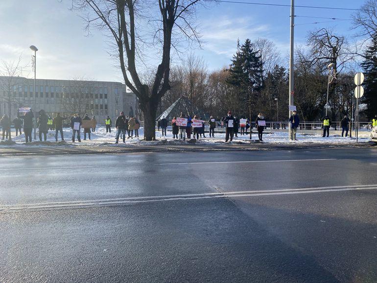 Акция в поддержку Алексея Навального в Риге. Фото: rus.tvnet.lv