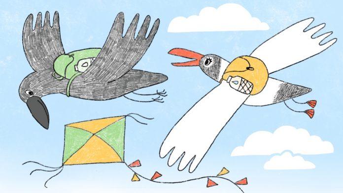 Чайка и Печалька. Иллюстрация Ольги Фишер