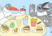 Чайка и Печалька. Рисунок Ольги Фишер