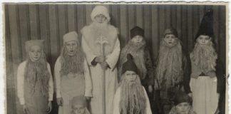 Дети офицеров Даугавпилсской крепости, новогодний утренник, 1930 год. Фото: zudusilatvija.lv