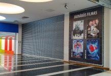 Кинотеатр Silverscreen в Даугавпилсе закрыт с середины марта 2020 года. Фото: Елена Иванцова