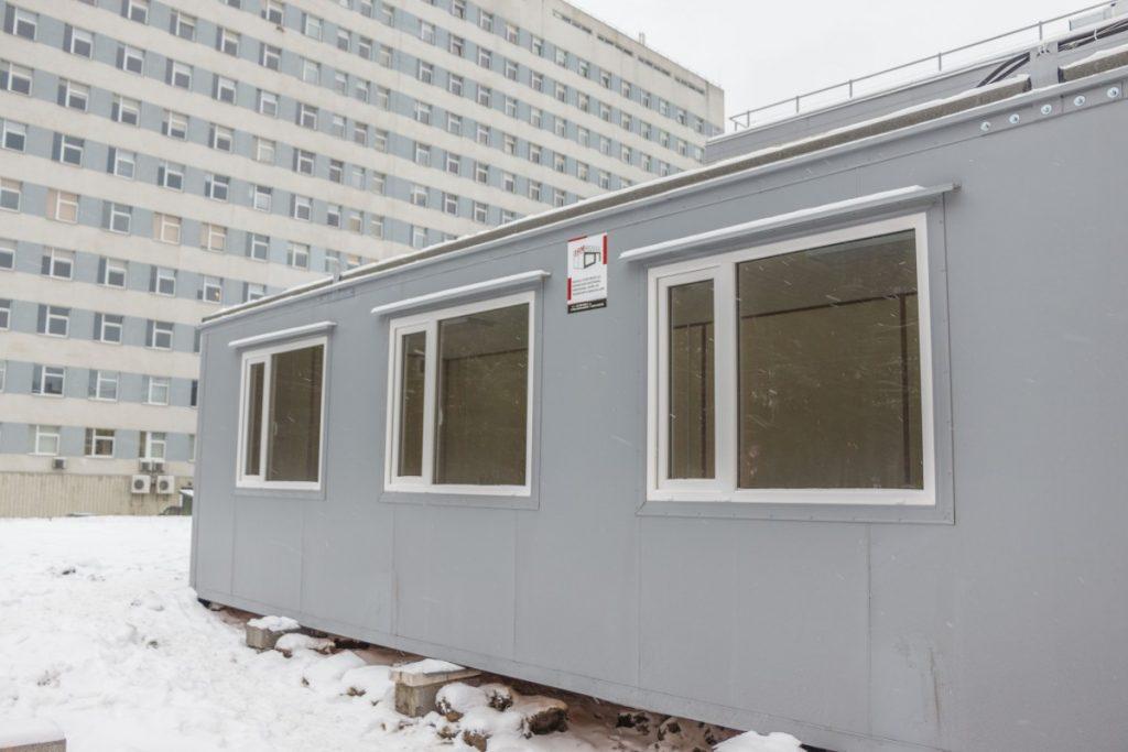 Модульные здания на территории ДРБ. 12 января 2021 года. Фото: Евгений Ратков