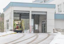 Приёмное отделение Даугавпилсской региональной больницы. 12 января 2021 года. Фото: Евгений Ратков