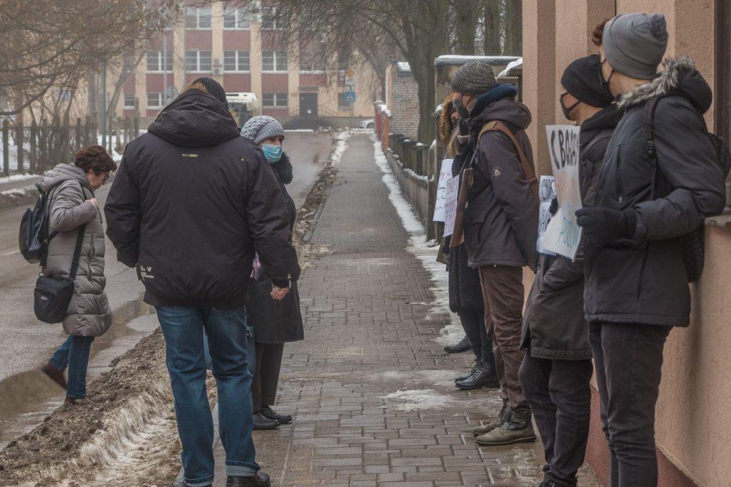 Пикет в поддержку Алексея Навального в Даугавпилсе. 23 января 2021 года. Фото: Евгений Ратков