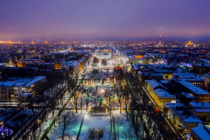 Даугавпилс. Январь 2021 года. Фото: Daugavpils pilsēta