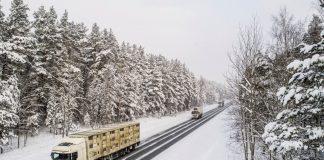 Фуры, зима. Фото: Latvijas Valsts ceļi