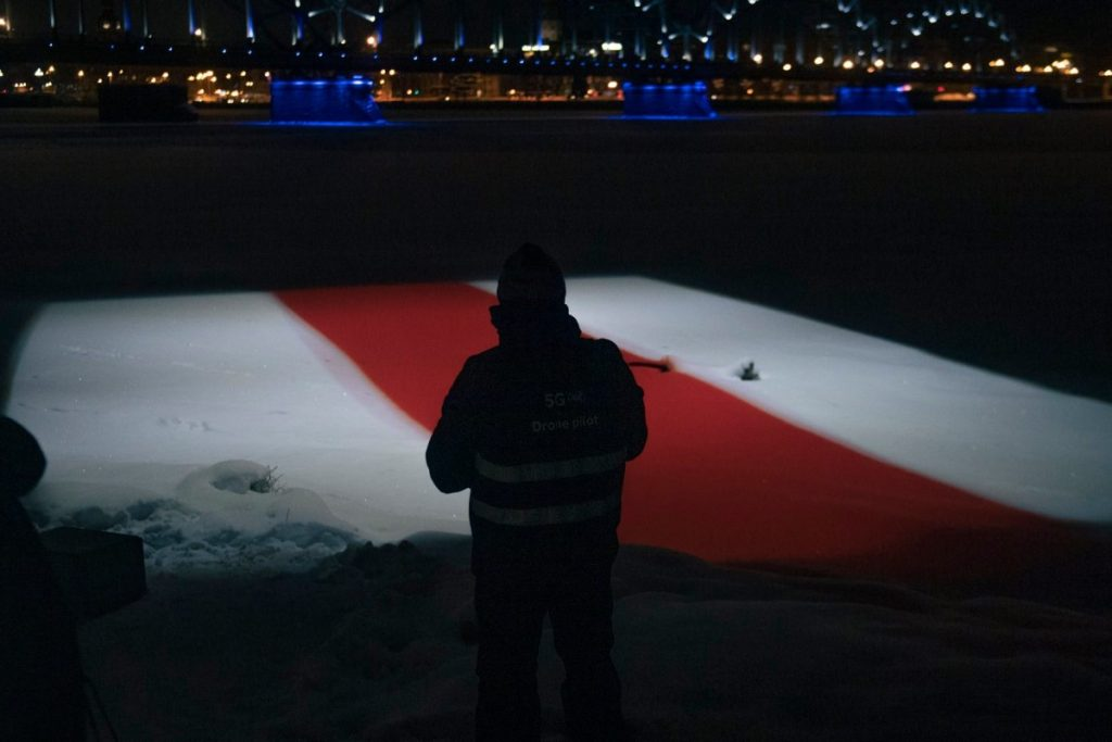 Акция солидарности в Риге. Фото: Jānis Škapars/TVNET