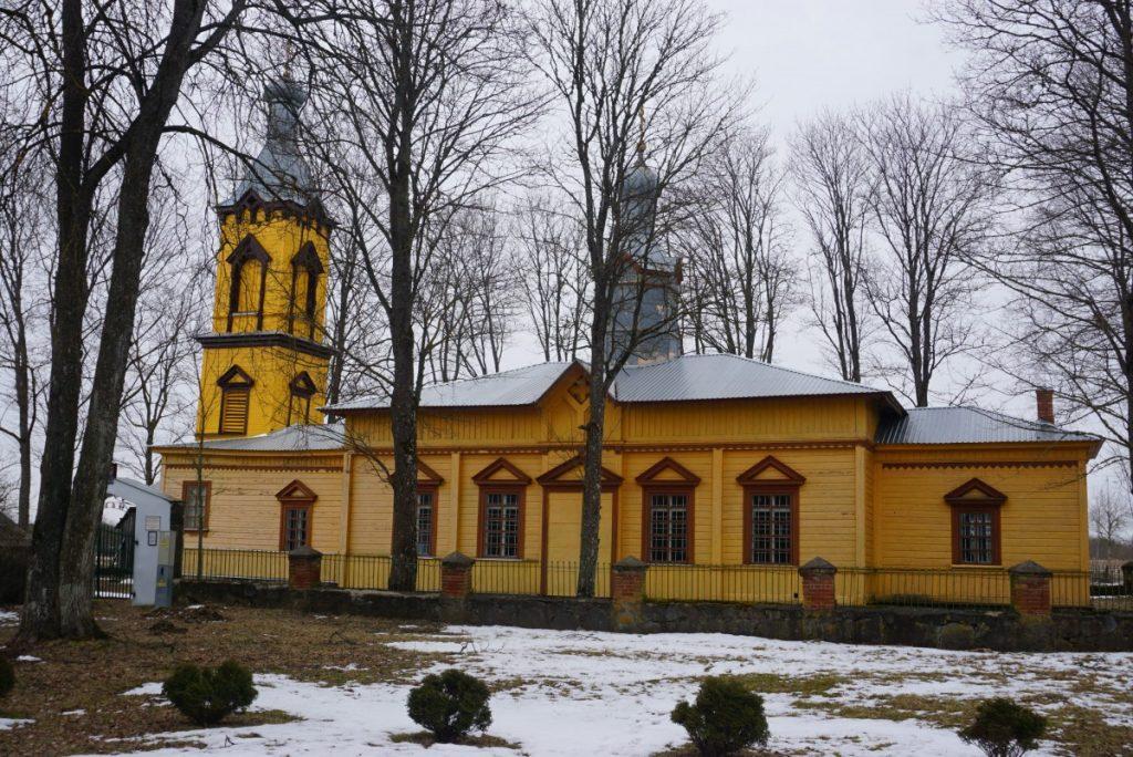 Храм Покрова пресвятой Богородицы в Скрудалиене. Фото: Елена Иванцова