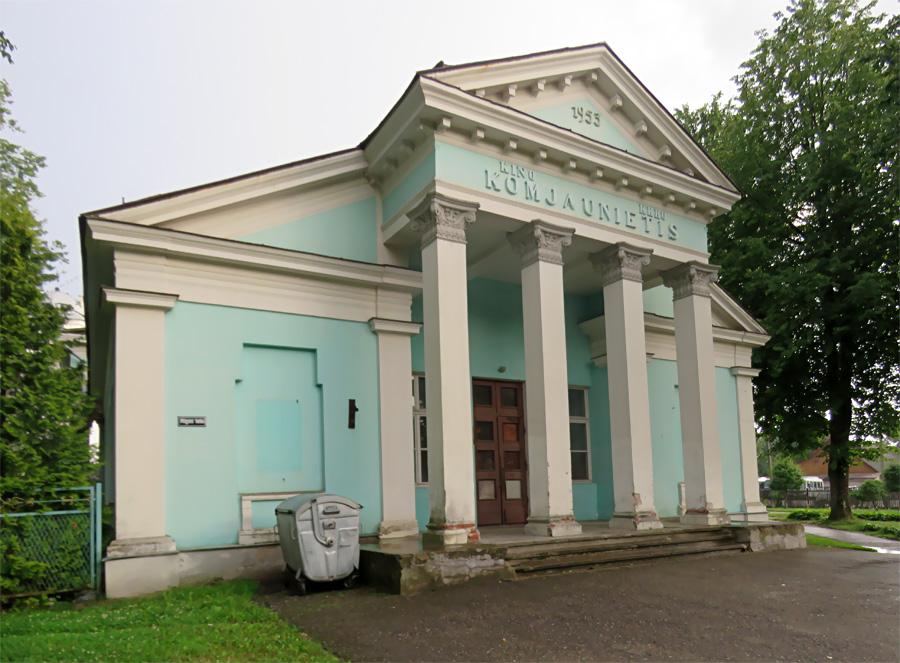 Кинотеатр Комсомолец в Дагде. Фото: visitdagda.lv