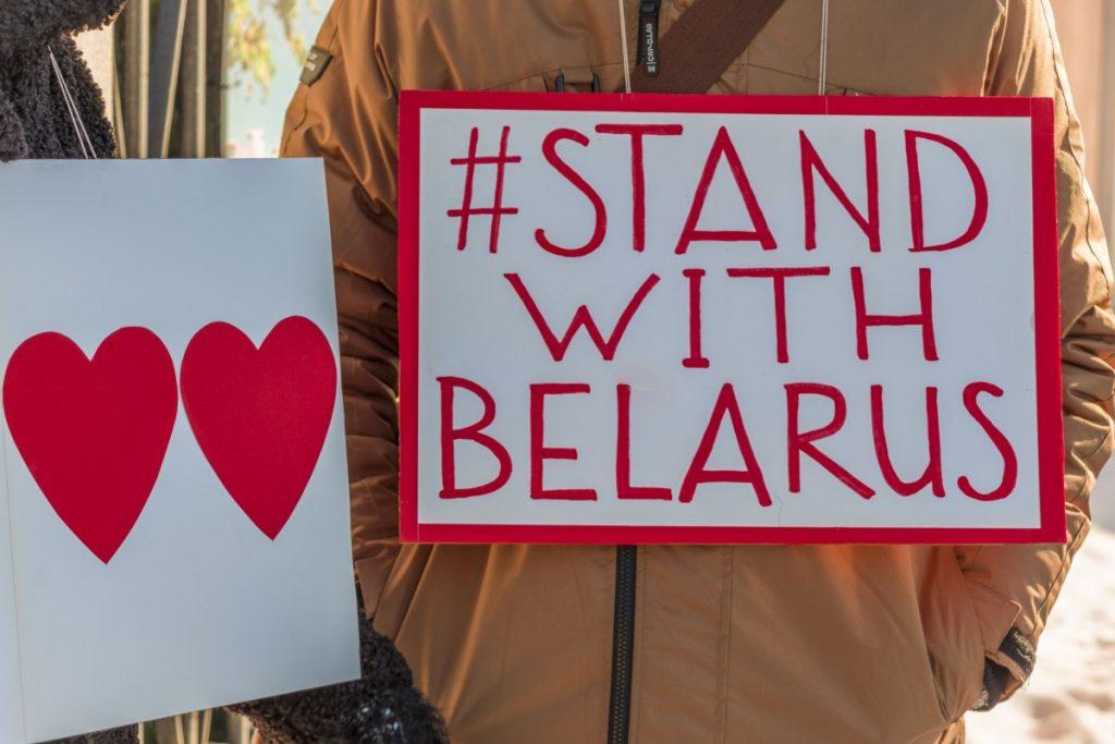 Акция солидарности в Даугавпилсе. 7 февраля 2021 года. Фото: Евгений Ратков